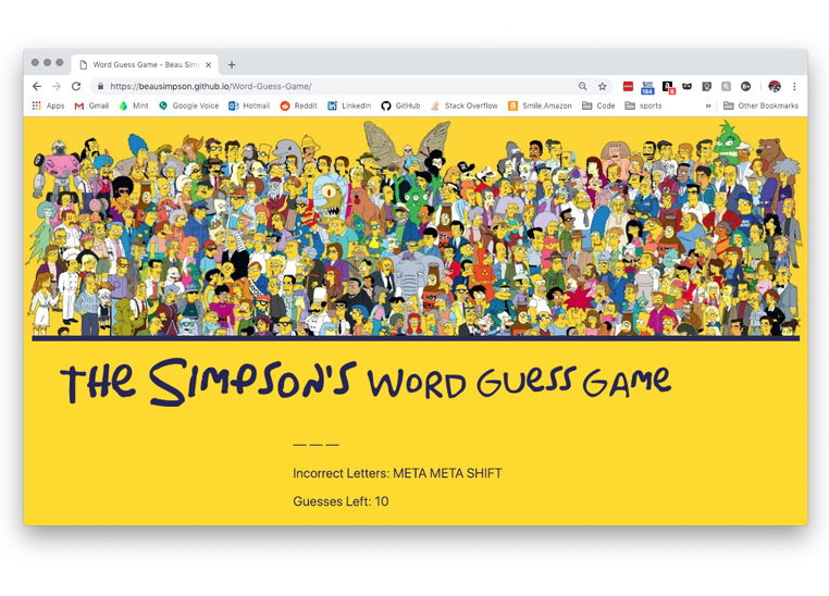 Word Guess Game Website